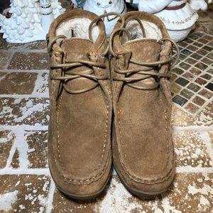 BearPaw leather wedges size 7